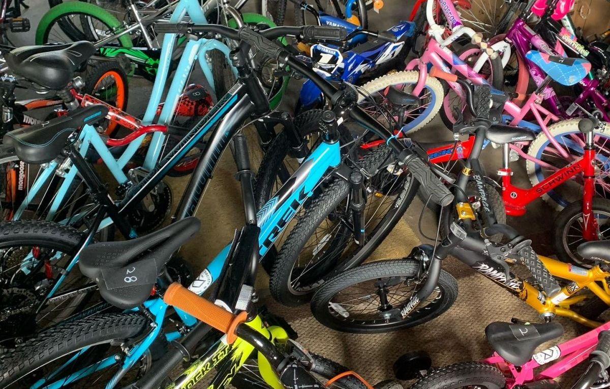 Garage filled with bikes!