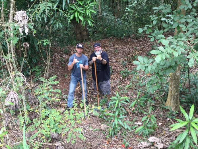 Meeting Al Capitan and helping him dig out his skills park in RINCON